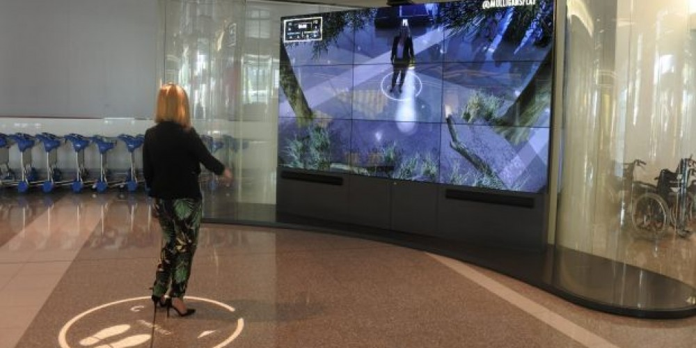 Passengers At Canberra Airport Can Explore Wildlife Through An AR Screen
