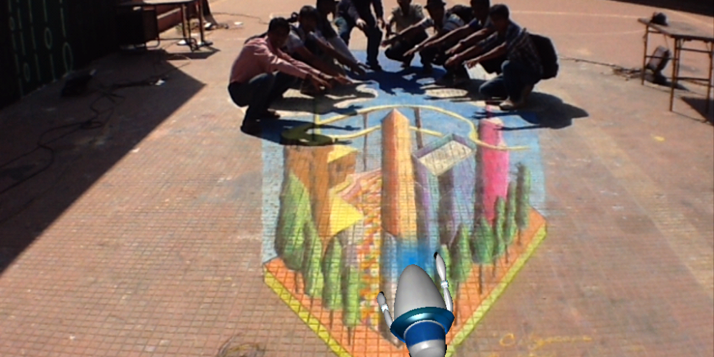 4D Immersive Street Art – A New Terminology for Chalk and Pavements…