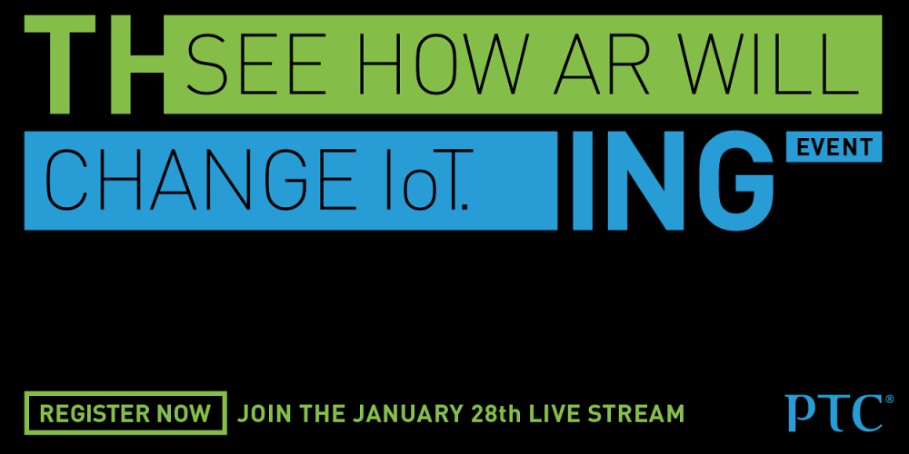 Join PTC for AR live stream event on Jan 28