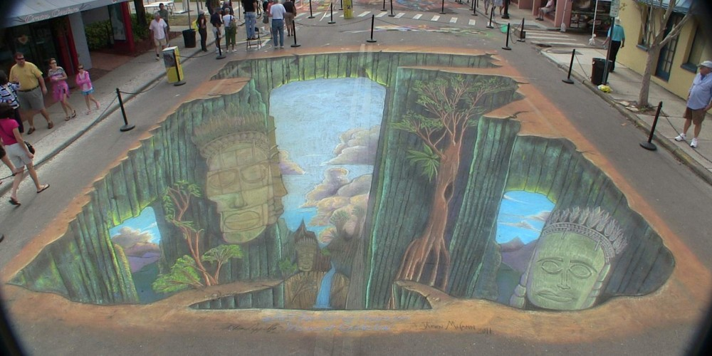 4D 3D Augmented Virtual Reality Street Artist: Anthony Cappetto