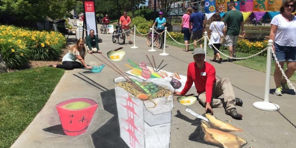 #4DisTheNew3D… 'Asian Fusion' 4D Immersive Street Art Installation by Anthony Cappetto w/ ARt for After Hours 4D Team