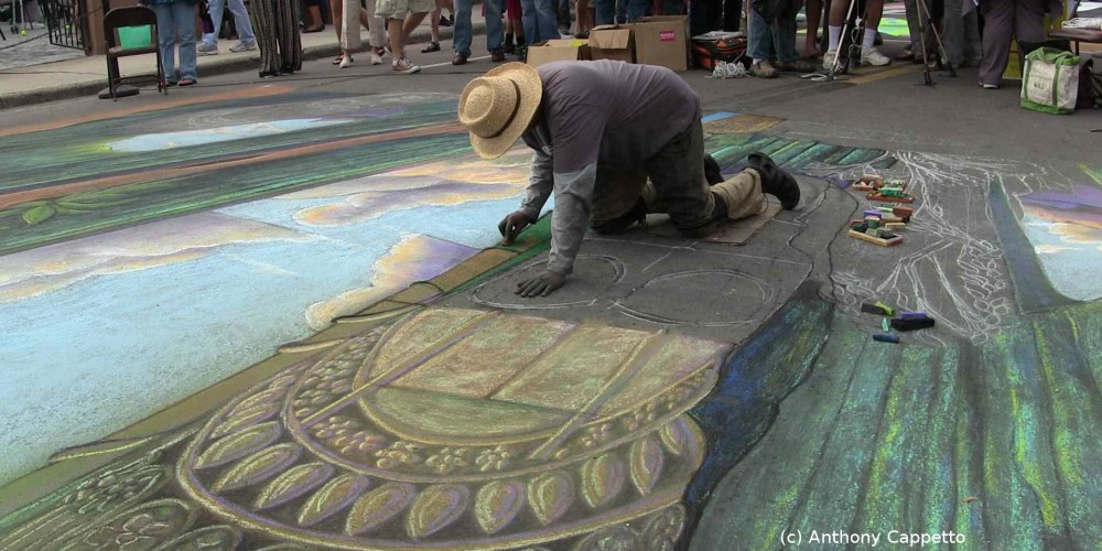 4D Immersive Street Art – Virtual Spaces and Environments using my 3D anamorphic art