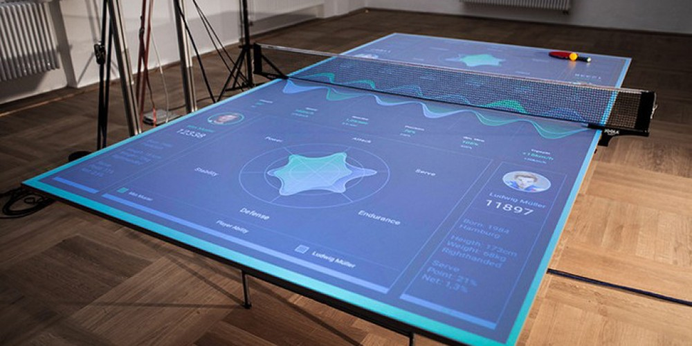 German Student Designs A Unique AR Pingpong Table