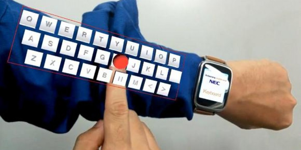NEC's Arms Virtual Keyboard Through Wearable Tech